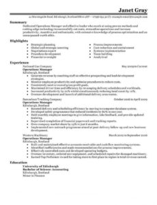 printable 11 amazing management resume examples  livecareer management position resume template pdf