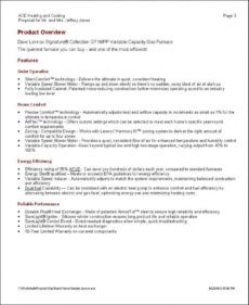 printable elite software  proposal maker heating and air conditioning proposal template word