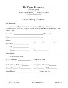 printable free 7 restaurant contract forms in pdf restaurant management contract template excel
