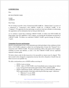 printable letter of intent loi template  all the key terms included private equity proposal template word