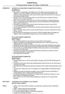 printable manager sports marketing resume samples  velvet jobs sports management resume template doc