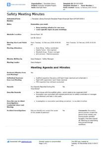 printable safety briefing template free for any health & safety briefing environmental health and safety management system template