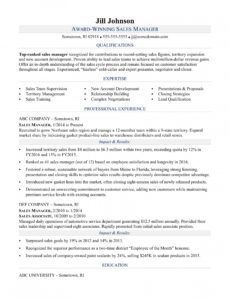 printable sales manager resume sample  monster management position resume template doc