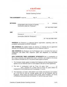 sample 13 sports coach contract example templates  docs word sports management contract template doc