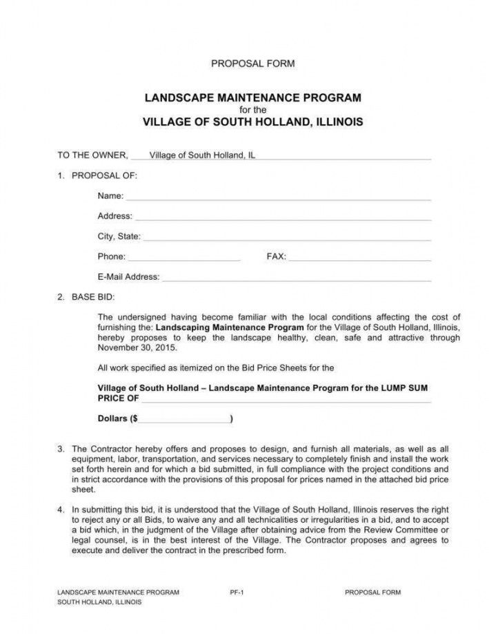 sample 9 importance of landscaping proposals in business  word grounds maintenance proposal template pdf
