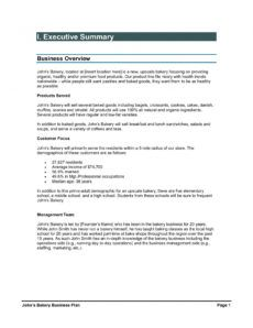 sample bakery business plan pages 1  29  text version bakery business proposal template example