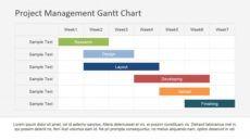 sample flat horizontal bar gantt chart template  slidemodel project management chart template word
