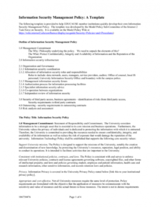 sample information security management policy a template account management policy template example