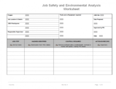 sample risk management plan and process  hse general procedure environmental health and safety management system template doc