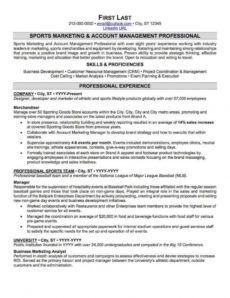 sports and coaching resume sample  professional resume sports management resume template doc