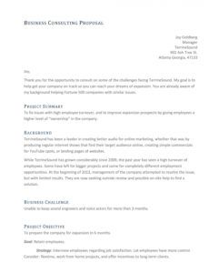 39 best consulting proposal templates free  templatelab consulting project proposal template word