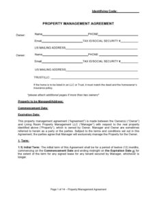 42 simple property management agreements word  pdf building management contract template example