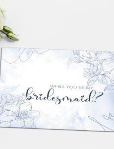 bridesmaid proposal card template bridesmaid proposal template pdf