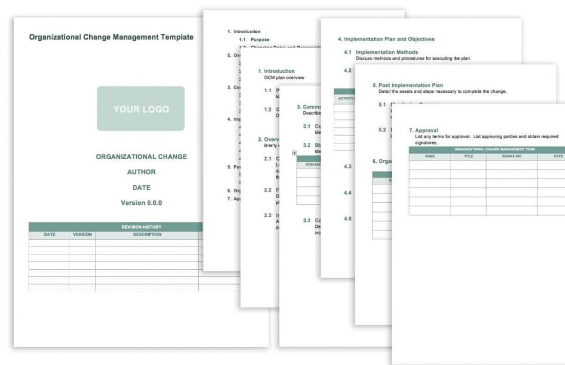 editable free change management templates  smartsheet change management process document template excel