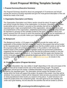 editable grant writing proposal sample pack of 5 request for funding proposal template pdf
