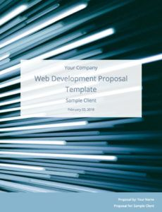 editable web development proposal template free sample  bidsketch web development proposal template doc