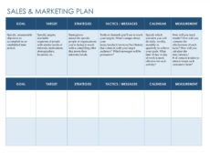 free 32 sales plan & sales strategy templates word & excel sales project management template