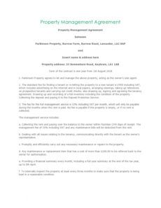free 42 simple property management agreements word  pdf building management contract template pdf
