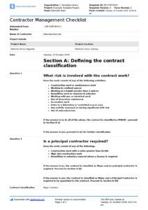 free contractor management checklist free and editable template construction project management contract template pdf
