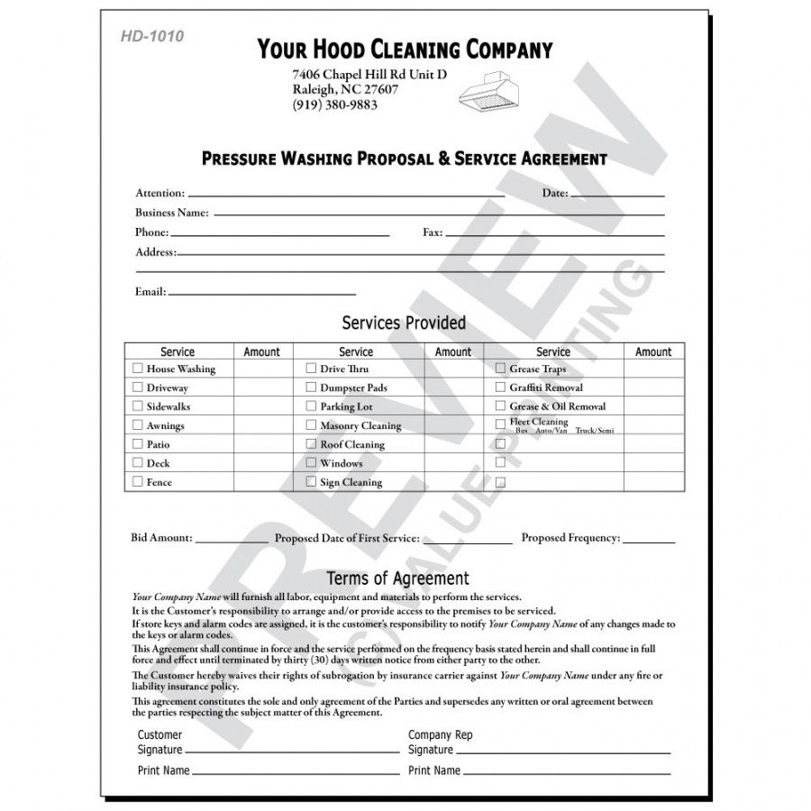 free hd1015 restaurant fire suppression systems report  hvac pressure washing proposal template pdf