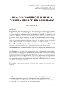 free pdf manager competencies in the area of human resources human resources risk management template doc