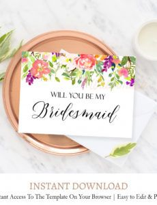 printable fall bridesmaid proposal cards f8 bridesmaid proposal template excel