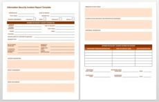 printable free incident report templates & forms  smartsheet it incident management template
