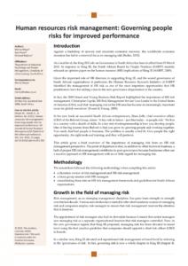 printable pdf meyer m roodt g & robbins m 2011 human human resources risk management template pdf