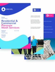 printable pressure washing proposal template  online advertising pressure washing proposal template example