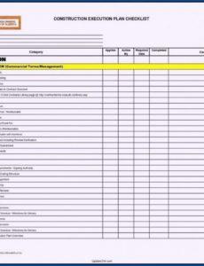 printable project management checklist template ~ addictionary checklist project management template