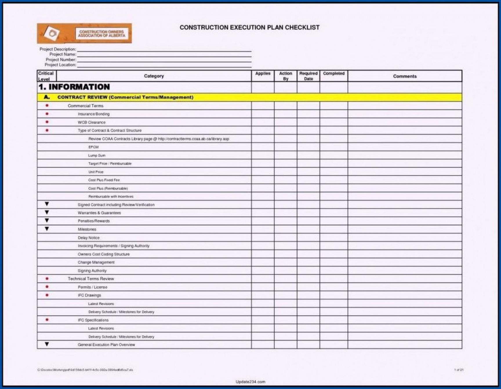 printable project management checklist template ~ addictionary checklist project management template