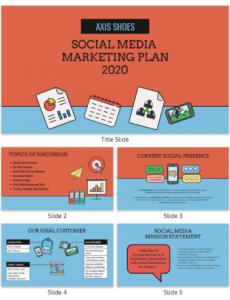printable social media marketing presentation template social media management template