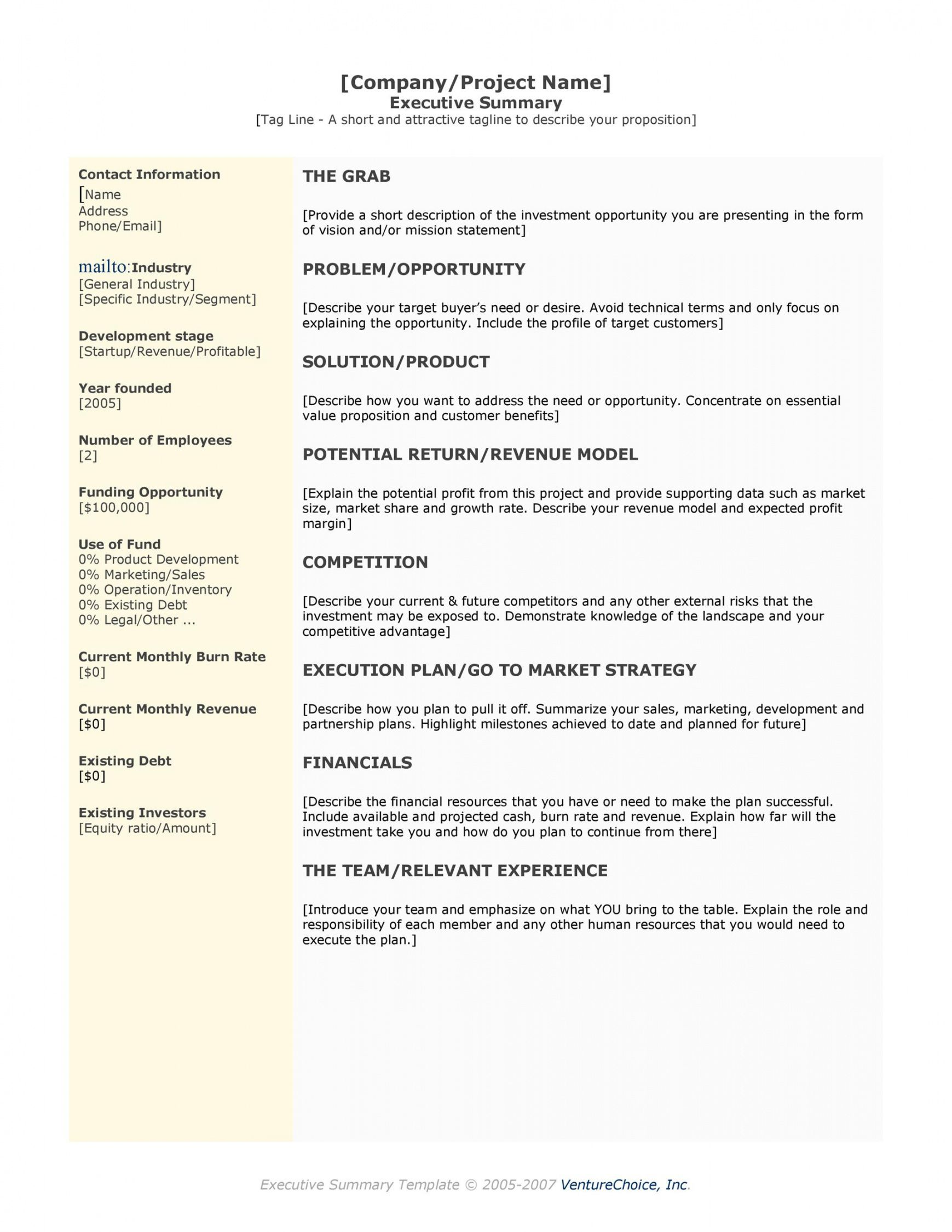 sample 30 perfect executive summary examples & templates project management summary template example