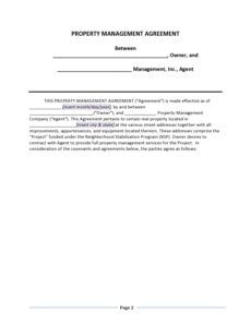 sample 42 simple property management agreements word  pdf building management contract template pdf