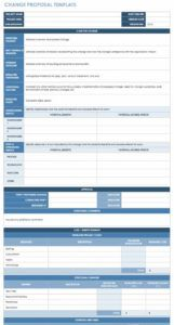 sample free change management templates  smartsheet change management process document template doc