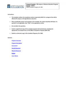 sample offcampus or distance education program proposal template educational program proposal template