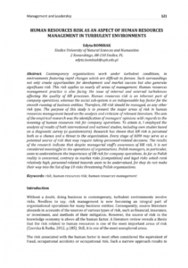 sample pdf human resources risk as an aspect of human resources human resources risk management template example