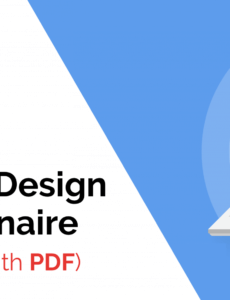 sample the ultimate website design questionnaire with pdf template website redesign proposal template example