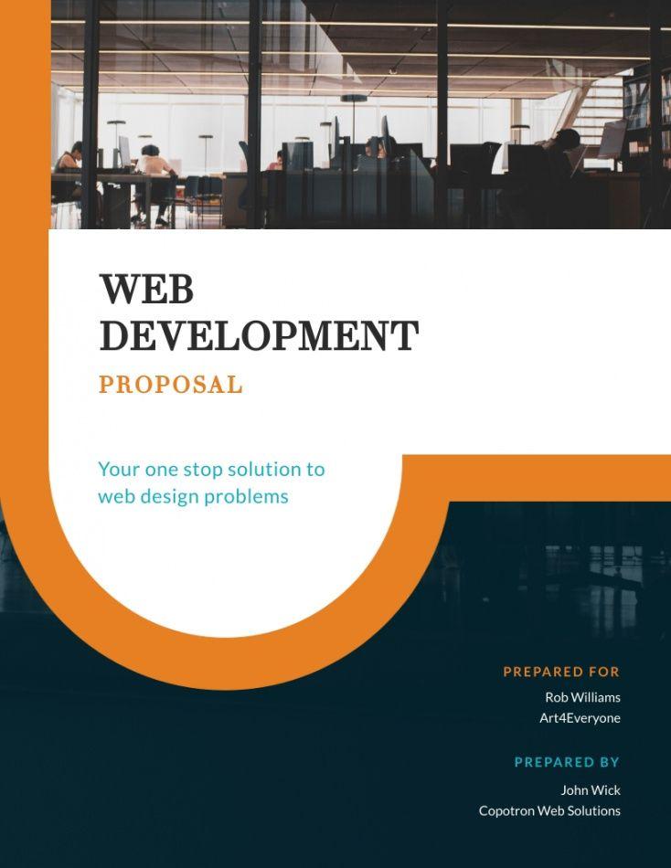 sample web development project  proposal template  visme web development proposal template pdf