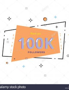100k followers thank you card celebration 100000 thank you banner template word