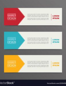 arrow banner template design with horizontal vector image horizontal banner template excel