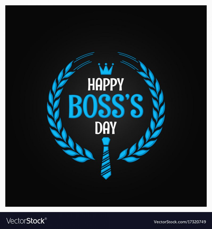 boss day logo sign design background royalty free vector boss day banner template word