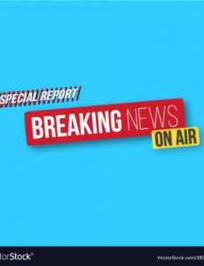 breaking news banner template news opener vector image news banner template