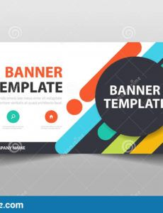 colorful creative business banner template header cover for horizontal banner template