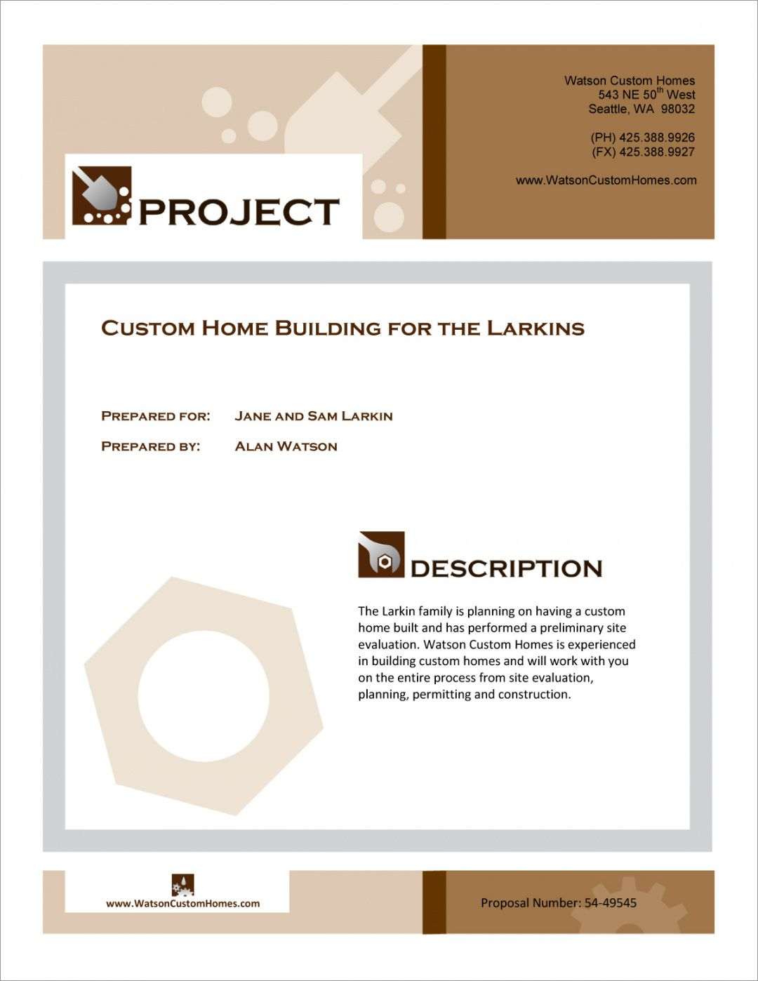 custom home building proposal  5 steps residential construction proposal template doc
