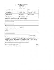 editable 31 construction proposal template & construction bid forms contractor bid proposal template excel