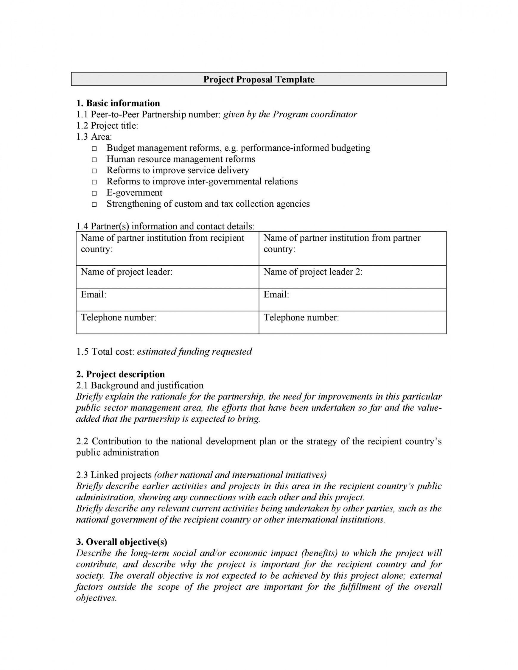 editable 43 professional project proposal templates  templatelab service learning project proposal template example
