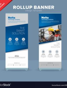 editable creative rollup banner design template royalty free vector roll up banner design template example