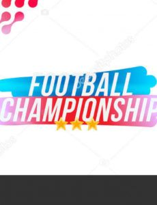 editable football championship banner template horizontal format with a football  ball and text on a background with a bright light effect 198620974 championship banner template