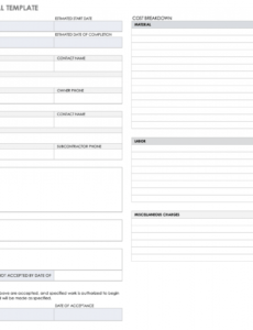 editable free construction bid templates  smartsheet remodeling bid proposal template